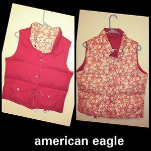 american eagle Puffy reversible vest Medium